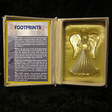 FOOTPRINTS GUARDIAN ANGELS GLASS IN  BOOK VERSE GIFT CHRISTMAS KEEPSAKE CARD