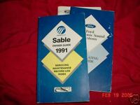 1991 Mercury Sable Owners Manual