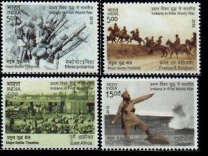 INDIA World War One France Belgium Gallipoli East Africa Stamp Set MNH NEW 2019