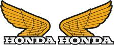 """#k310 2.5"""" Honda Wings Tank Decals Stickers Reproduction Laminated"""