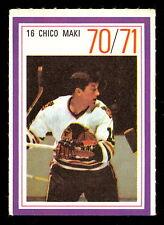 1970-71 ESSO POWER PLAYERS NHL #16 CHICO MAKI  EX-NM BLACK HAWKS UNUSED STAMP
