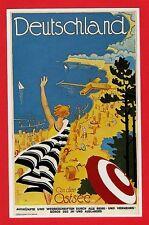 Dalkeith Poster Postcard ~ Deutschland: An der Ostsee - Baltic Sea: Germany 1930
