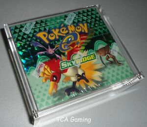 Custom MAGNETIC Clear Protective Pokemon Booster Box Case - E Reader/EX - Magnet