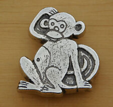 Vintage Monkey Belt Buckle - 1970s