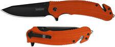 "Kershaw 8650 Barricade 3.5"" 8Cr13MoV Stainless Steel Blade & Orange GFN Handle"