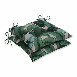 Pillow Perfect Outdoor/Indoor Swaying Palms Capri Tufted Seat Cushions Square...