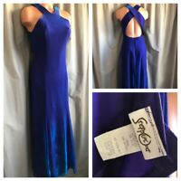 VTG 80's 90's Party Prom Dress Steppin' Out Purple Metallic Mermaid Ball Gown 10