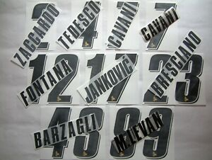 KIT NOME+NUMERO UFFICIALI PALERMO HOME/AWAY 2007/2010 OFFICIAL NAMESET