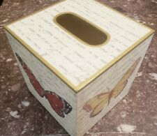 Hand Painted Butterfly Wooden Tissue Box Cover