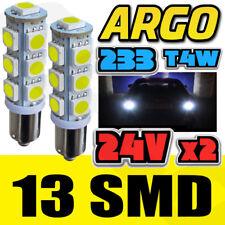 2 x DEL ba9s t4w 233 Xenon White Strobe police flash Side Bulbs Camion 24 V