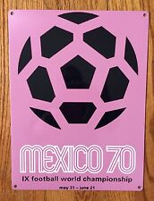 Mexico Futbol Soccer FIFA World Cup 1970 Brazil Italy Vintage Poster Metal Sign