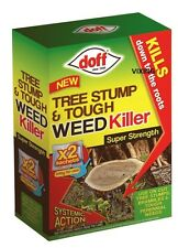 DOFF SUPER STRENGTH TREE STUMP & TOUGH WEED KILLER KILLS TO THE ROOTS 2 SACHETS