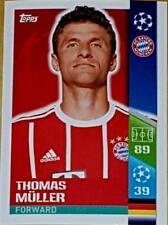 77 Thomas Muller Bayern Munich 2017/2018 Topps PEGATINAS UEFA Champions League