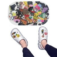 100 Mixed PVC Shoe Charm Lot Different Shoe Charm Fit For Croc Jibbitz Wristband