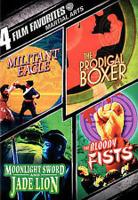 4 MA Films! Militant Eagle, Prodigal Boxer, Bloody Fist, Jade Lion! NEW DVD