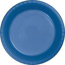 "20 True Blue Wedding Birthday Party Tableware 9"" Plastic Lunch Plates"