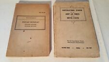 Two Vintage 1941/1942 WW2 US Army Air Forces War Department Spanish Manual Books