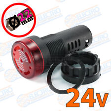 Zumbador panel con LED 24v 22mm 80dB 20mA ROJO Buzzer señal