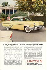 1950s Vintage print ad Car Lincoln Yellow Everything about reflects good taste