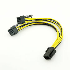 10x PCI-E 6 Pin to 2x 6+2 Pin 6-pin/8-pin Power PCIE PCI Express Splitter Cable