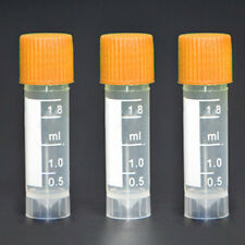 Lot 10pcs Clear 1.5ml Plastic Graduated Cryovial Lab Test Tubes Sample Container