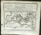 ANTIQUE MAP LES COLONIES PHENICIENNES (MEDITERRANEAN) 1739 BY BOURGOIN