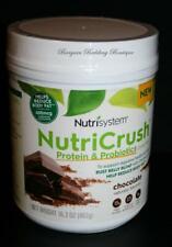 Nutrisystem Nutricrush Chocolate Shake 15g Protein Probiotics Canister 16.3 oz
