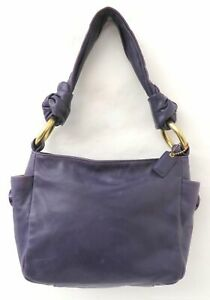 Coach Resort 42167 Purple Soft Leather Small Handbag Purse