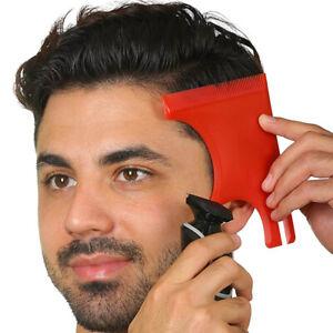1XMen Barber Hairline Template Stencil Guide Hair Beard Comb Lineup Haircut Too√