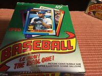 1990 O-PEE-CHEE OPC Baseball Wax Box 36 Unopened Packs Thomas, Sosa, Walker RC