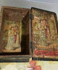 More details for antique david dunlop tobacco advert shipping box re-purposed rare display prop