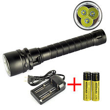 12000Lm 3xXM-L L2 LED Scuba Diving Flashlight Torch Dive Light to 80m+2XBattery
