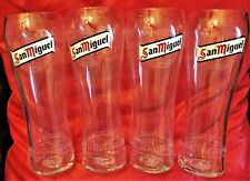 4x PINT *Brand New* SAN MIGUEL TALL Official Glasses, RARE, Nucleated