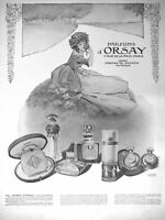 PUBLICITÉ DE PRESSE 1913 ROSES D'ORSAY EXTRAIT EAU DE TOILETTE - ADVERTISING
