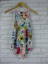 BARDOT Top/Blouse Sz AU 10, US 6, 8  White, Blue, Pink Floral Print