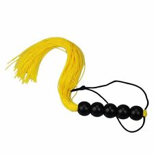Sex SM Pearl hand Role Play rubber Whip Flogger Nine Tail Alternative Yellow