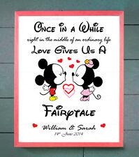 Valentines Personalised Mickey Minnie DISNEY Him Her Couples Anniversary Present