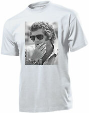 T-SHIRT UOMO STEVE MCQUEEN IDEA REGALO ESTATE  2017 HAPPINESS