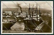 Catania Città Porto Foto cartolina QQ0185