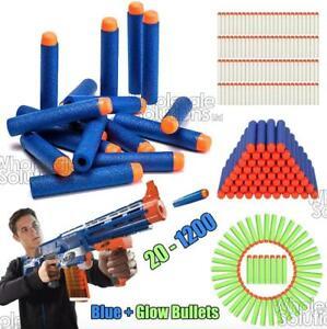 20-1200PC Soft Refill Ner Bullets Darts Round Head Gun Blaster N-strike Kid Toy