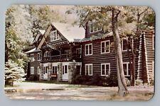 Houghton Lake Michigan MI Johnson's Rustic Resort The Inn Postcard 1950s
