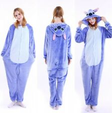 Stitch Kigurumi Anime Cosplay Pyjamas Costume Hoody Adult Onesie21 Fancy Dress