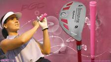 """Senior Ladies iDrive Pink Golf Club Hybrid #9 Rescue Utility """"Senior"""" Flex Club"""