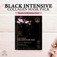 Collagen Full Face Mask Sheet Moisture Hydrating Facial Sheets (10 Pack)