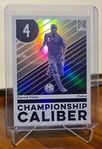 2017 Panini Nobility Championship Caliber Soccer Card Patrick Vieira