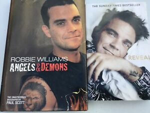 ROBBIE WILLIAMS - TWO BOOKS - REVEAL + ANGELS AND DEMONS