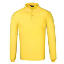 Mens Branded Donnay Classic Long Sleeve Cotton Polo Shirt Top Size S M L XL