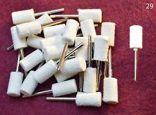 25 pcs Large Barrel Felt Wool Polishing 1/8 shank Bits Dremel's or Rotary Tools