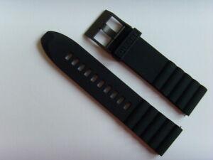 Diesel Original Spare Band Silicone DZT2010 Watch Band Black Watch Strap 24mm
