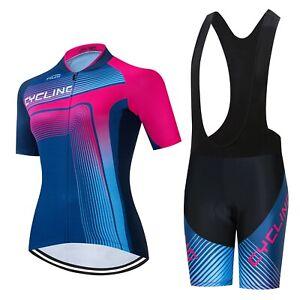 Woman Cycling Short Sleeve Set 2pcs Full Zipper And GEL Breathable Pad